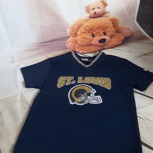 NFL St. Louis Rams jersey blue gold short sleeve M